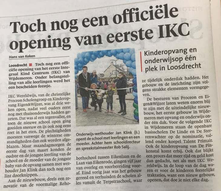 IKC opening krant 111914917440