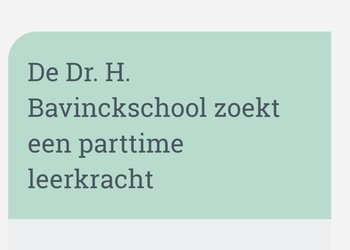 Vacature 0,4 FTE groep 4