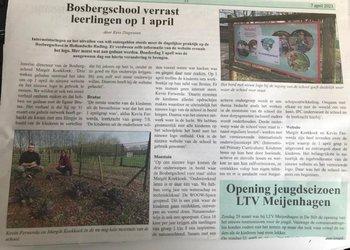 De Bosbergschool in 1 april sferen